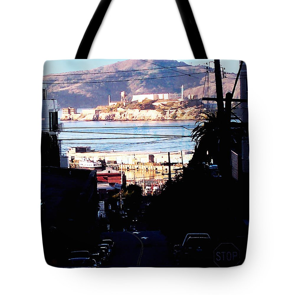 Architecture Tote Bag featuring the photograph Alcatraz - So Close Yet So Far by Glenn Aker