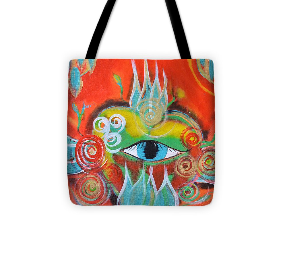 Alchemy Tote Bag featuring the painting Alchemical Heart by Mary Ann Matthys