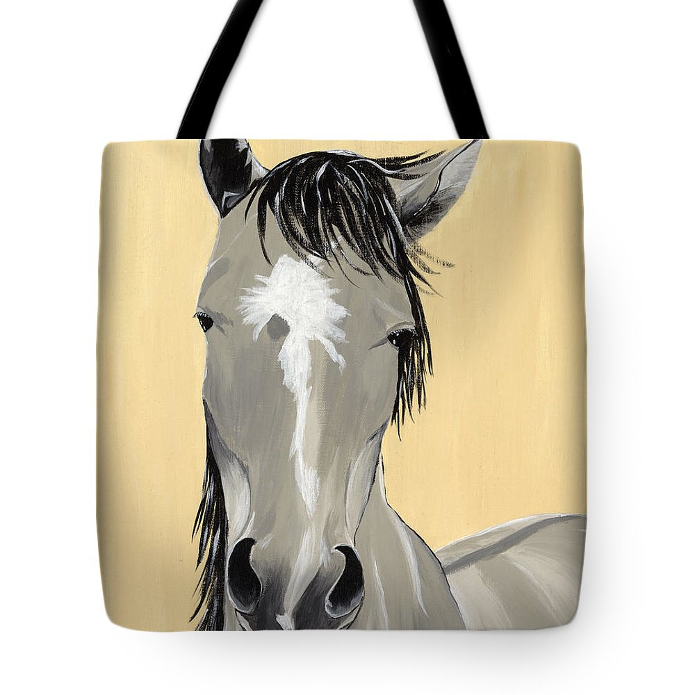 Horse Paintings Tote Bag featuring the painting Alegria De Baile by Debi Bond