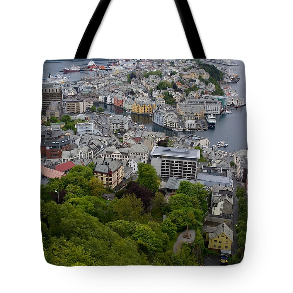 Alesund Tote Bag featuring the photograph Alesund Norway by Benjamin Reed