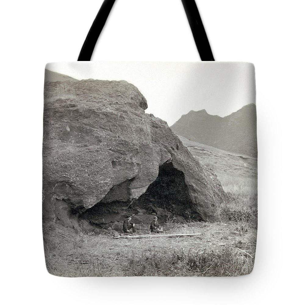 1874 Tote Bag featuring the photograph Alexander Selkirk Cave by Granger