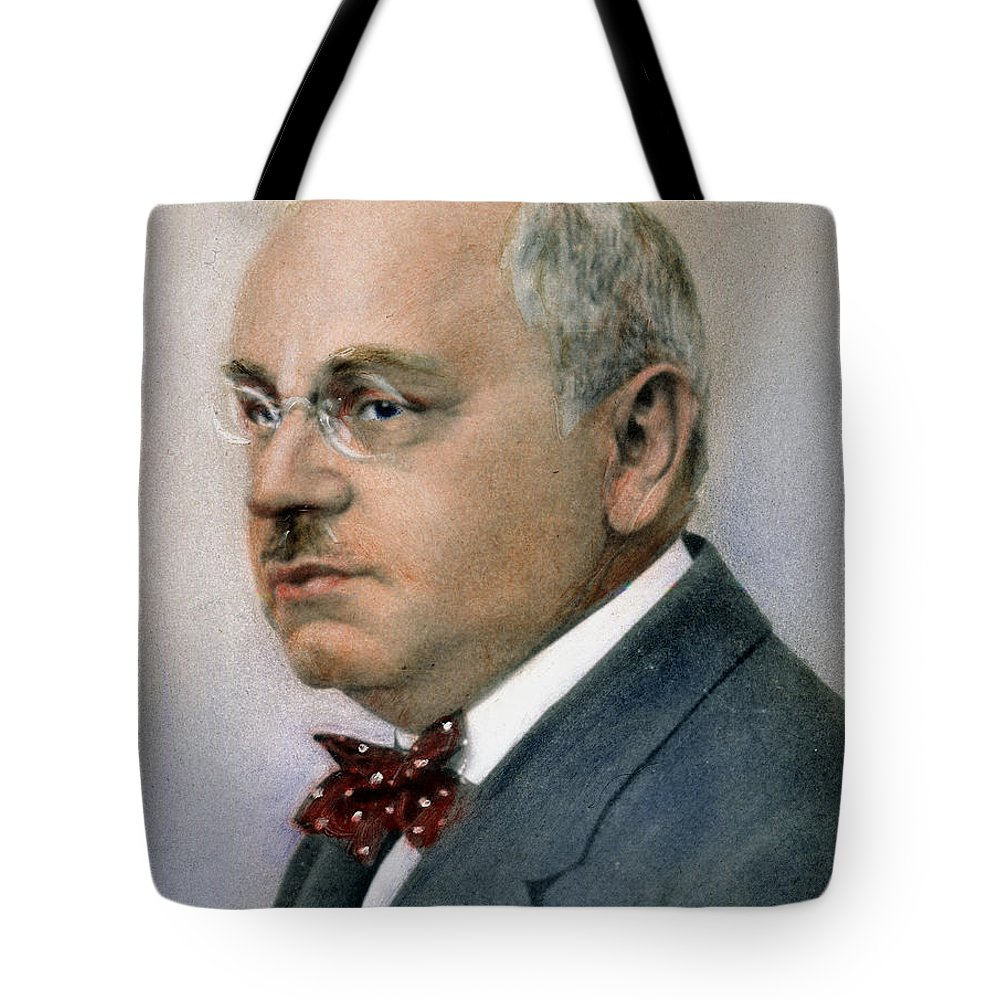 19th Century Tote Bag featuring the photograph Alfred Adler (1870-1927) by Granger