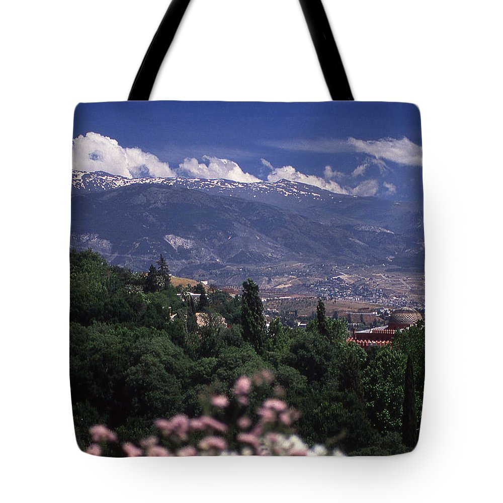 Alhambra Tote Bag featuring the photograph Alhambra View by Richard Thomas