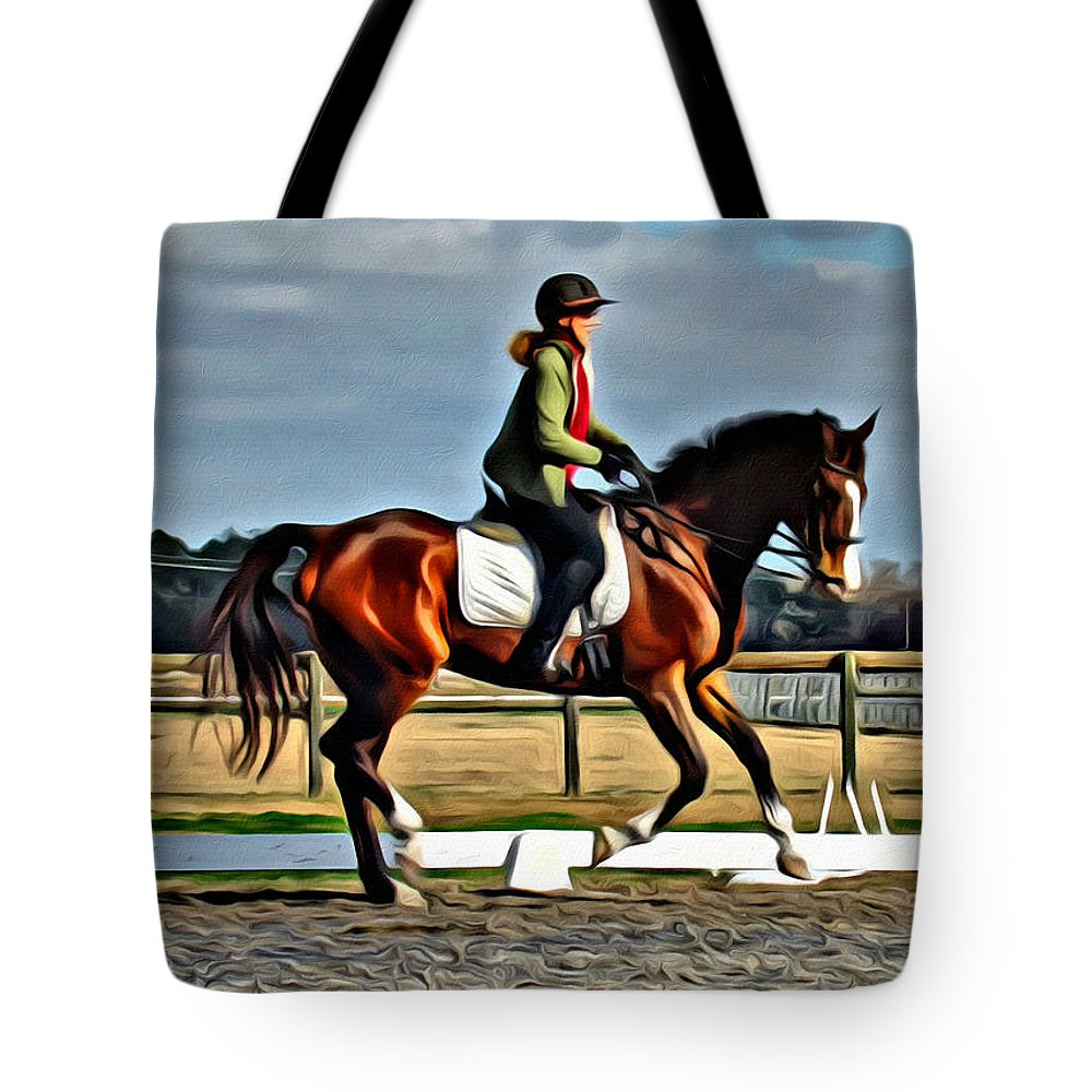 Horse Tote Bag featuring the photograph Alice And Oliver by Alice Gipson