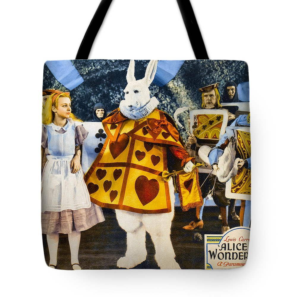 Movie Poster Tote Bag featuring the digital art Alice In Wonderland by Studio Poster