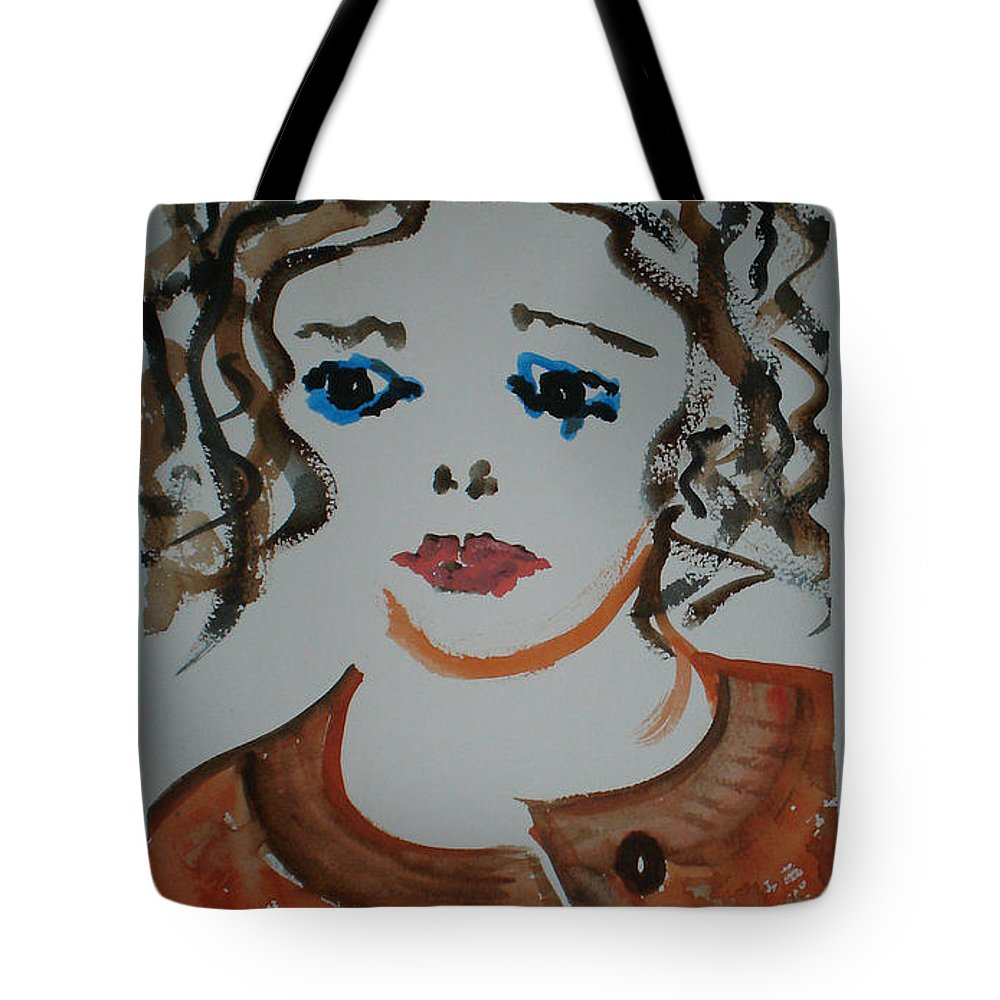 Female Tote Bag featuring the painting Alice by Judy Gerstner