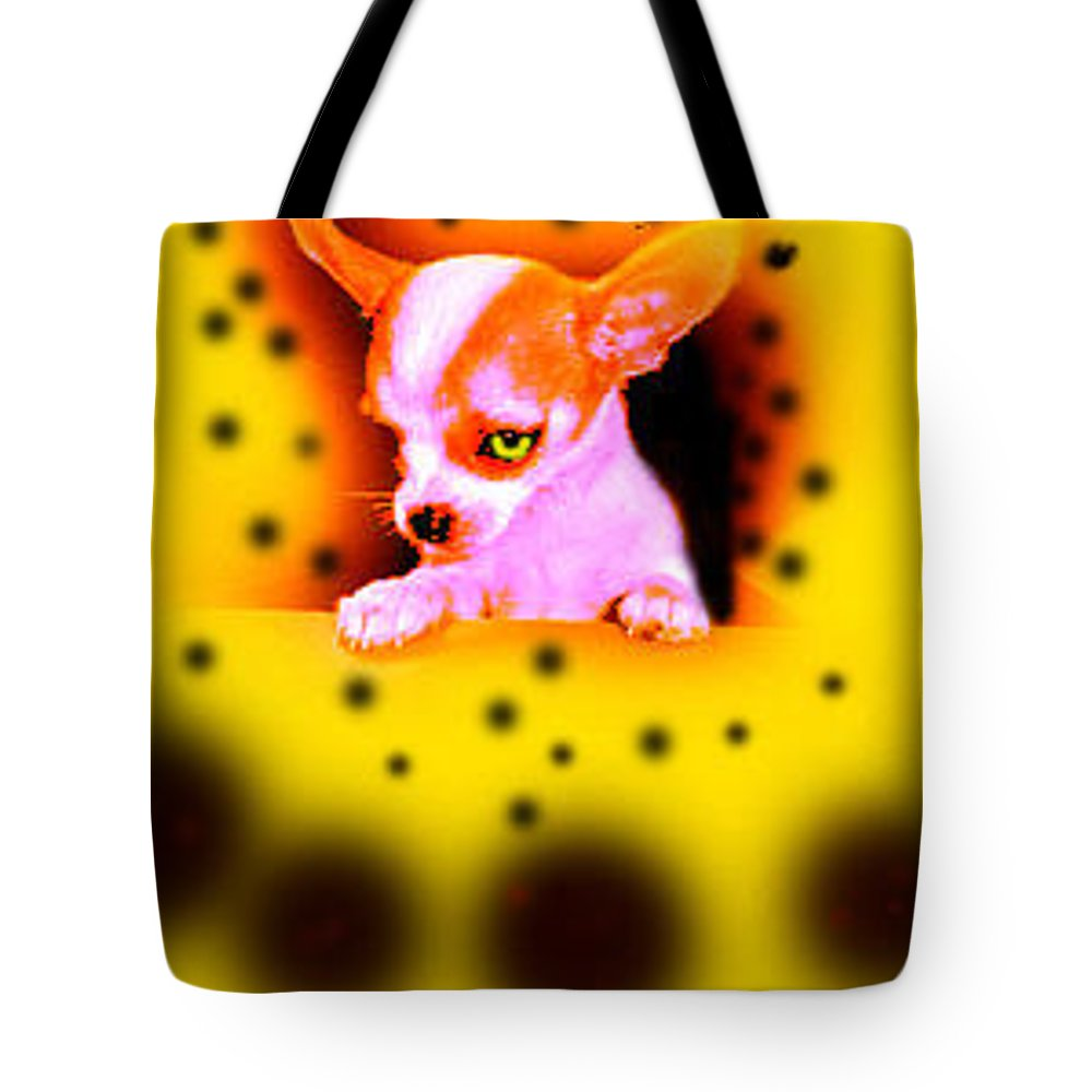 Chihuahua Tote Bag featuring the photograph Alien Chihuahua by Leah Delano