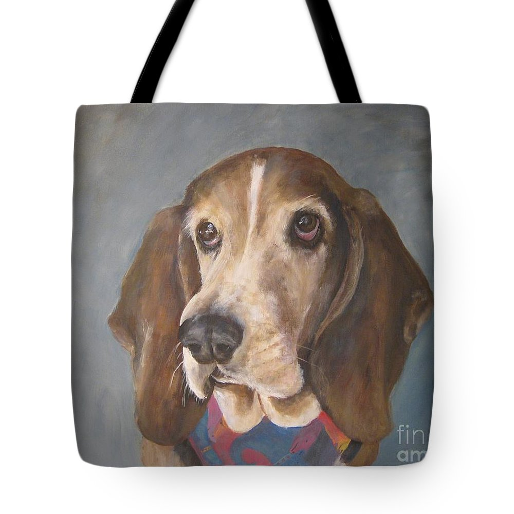 Dog Tote Bag featuring the painting All Dressed Up And Nowhere To Go by Elizabeth Ellis