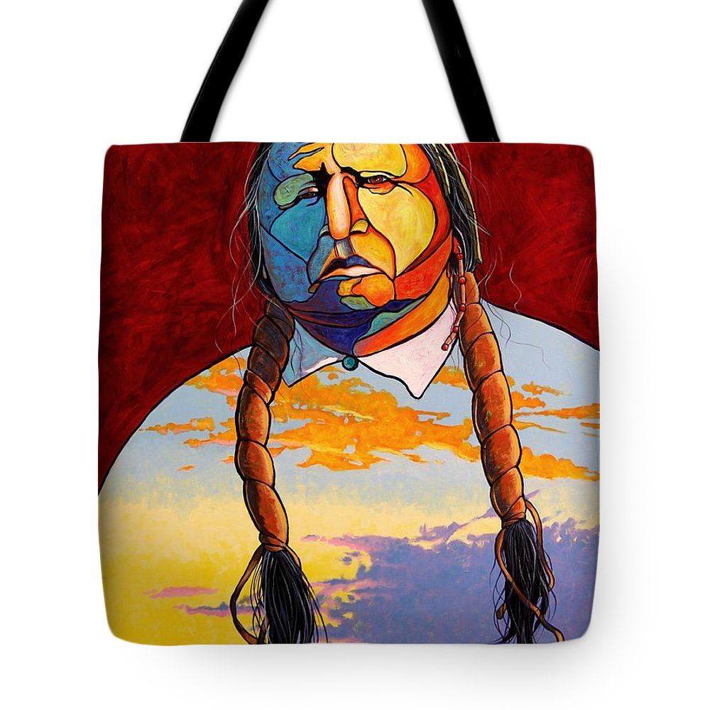 Spiritual Tote Bag featuring the painting All That I Am by Joe Triano