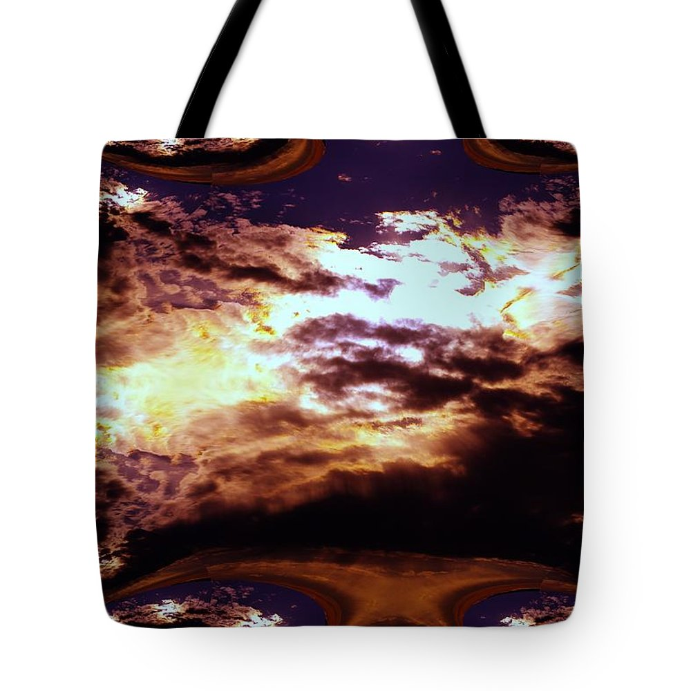 Tote Bag featuring the photograph All The Wild Clouds by Jeff Swan