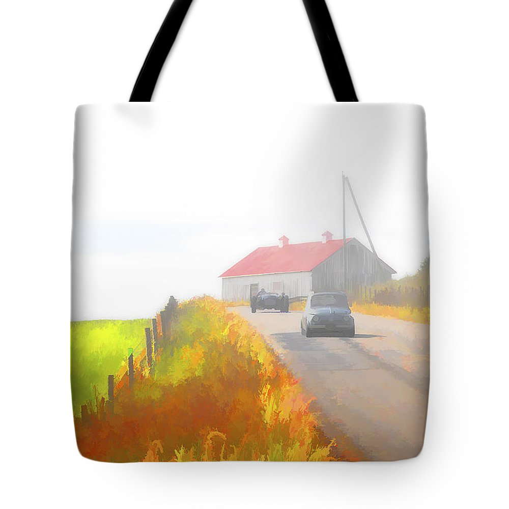 Allard Tote Bag featuring the photograph Allard And Fiat by Jack R Perry