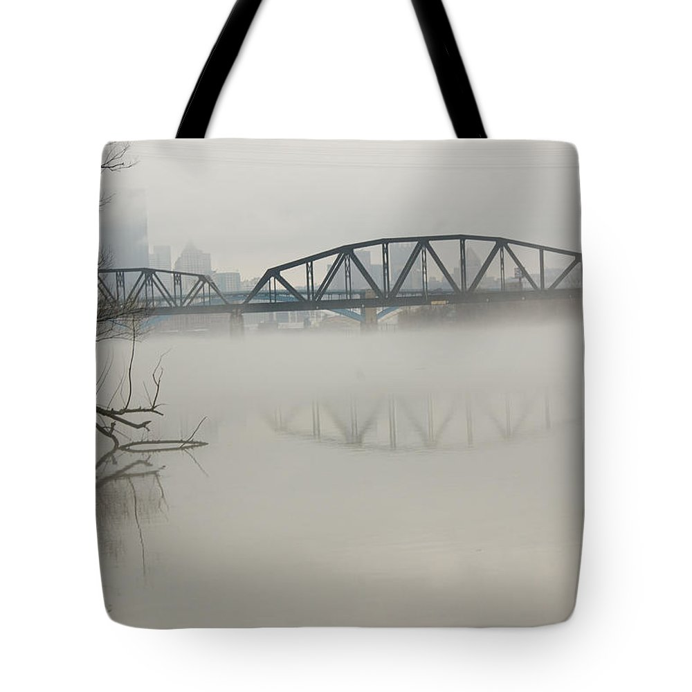 Landscape Tote Bag featuring the photograph Allegheny In The Mist by Jay Ressler