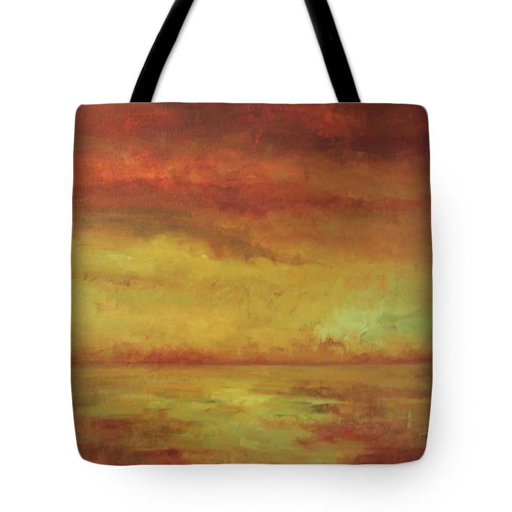 Ocean Tote Bag featuring the painting Allegro by Mary Wolf