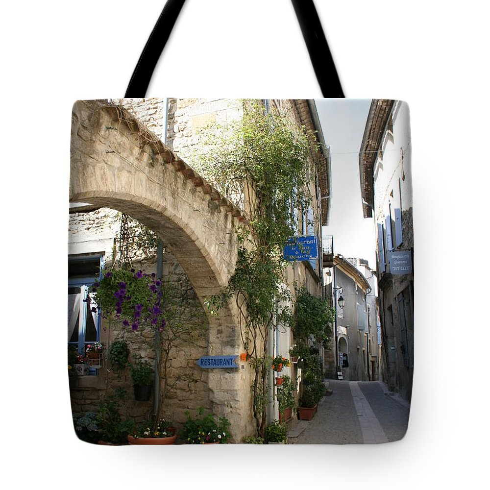 Alley Tote Bag featuring the photograph Alley In The Procence by Christiane Schulze Art And Photography