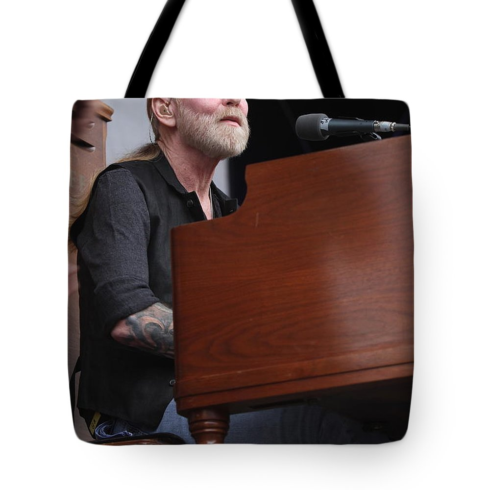 Musician Tote Bag featuring the photograph Allman Brothers Band - Gregg Allman by Concert Photos