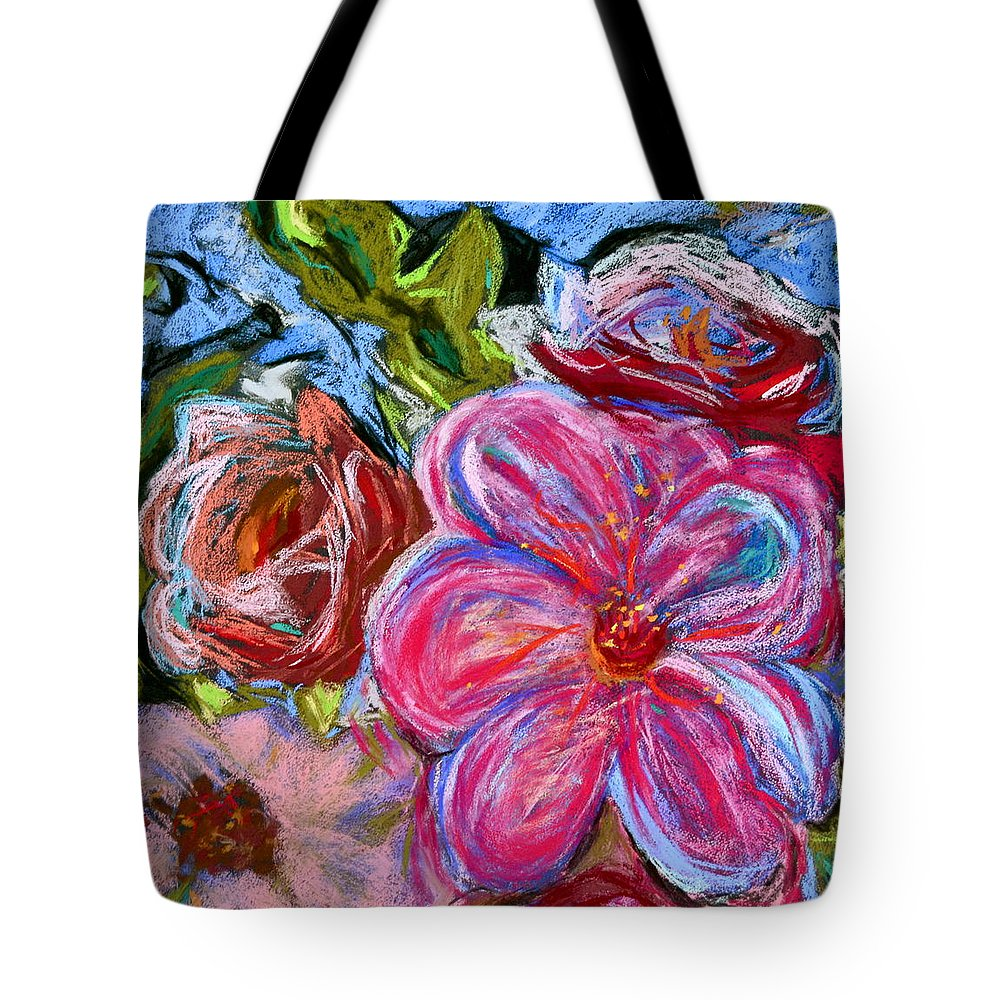 Flower Tote Bag featuring the painting Allure by Beverley Harper Tinsley