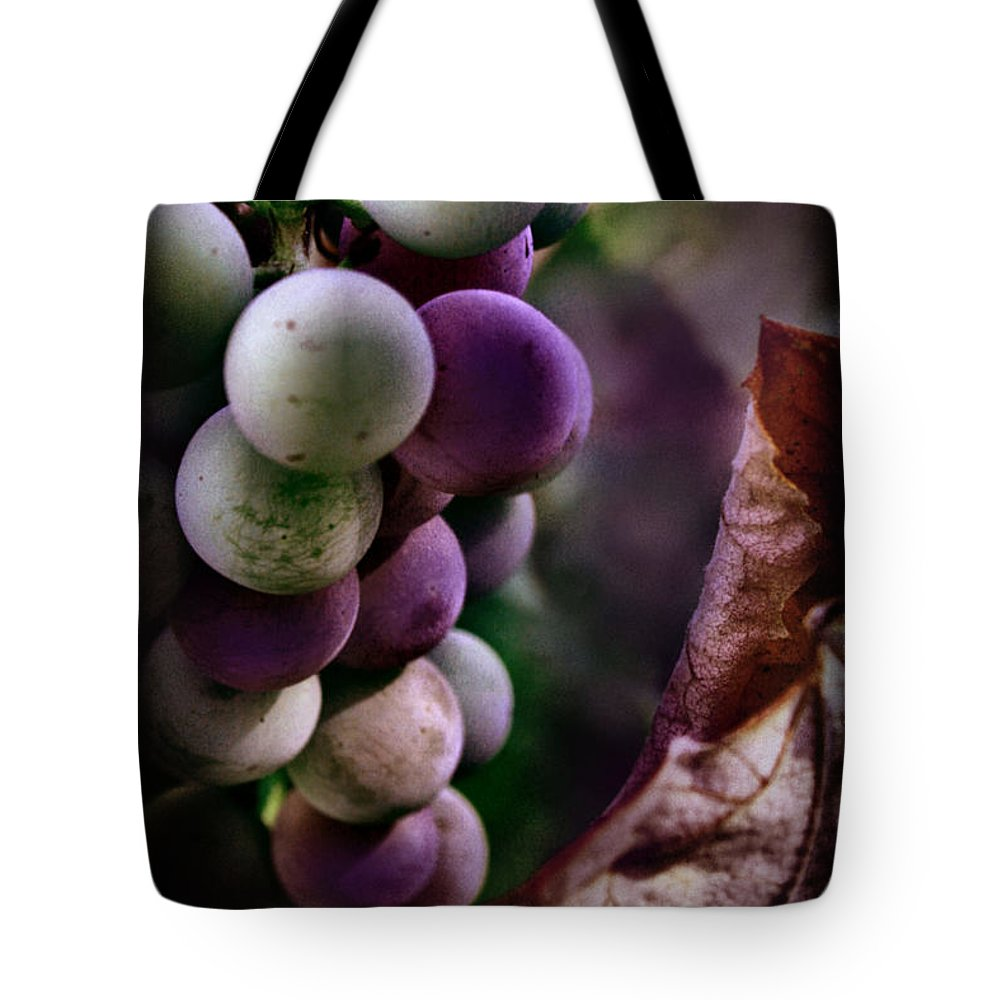 Grapes Tote Bag featuring the photograph Almost Ripe Grapes by Sally Bauer