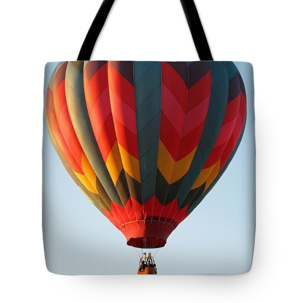 hot Air Balloon Tote Bag featuring the photograph Aloft by Barbara McDevitt