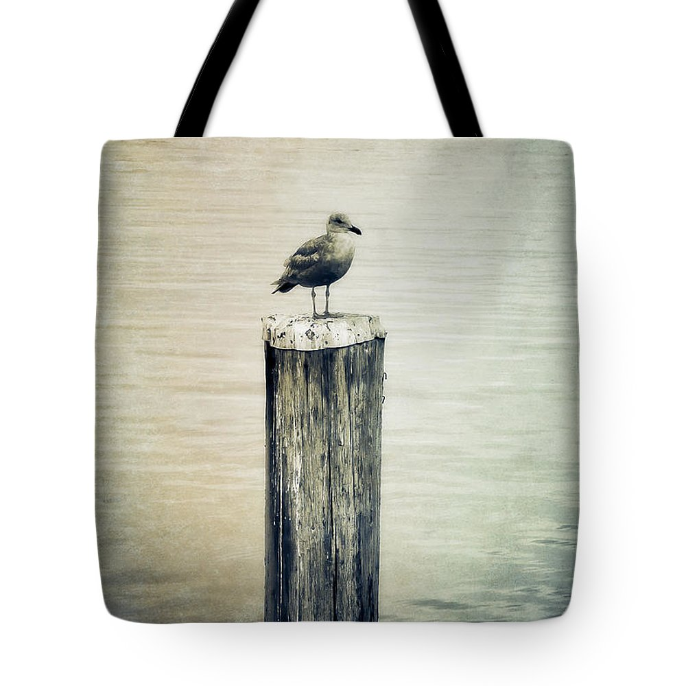 Animal Tote Bag featuring the photograph Alone by Venetta Archer
