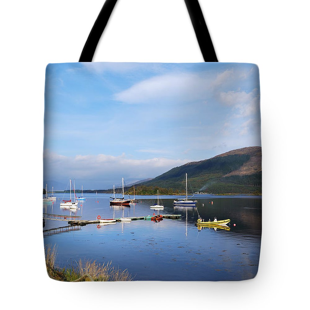 Along Loch Leven Ii Tote Bag featuring the photograph Along Loch Leven 2 by Wendy Wilton
