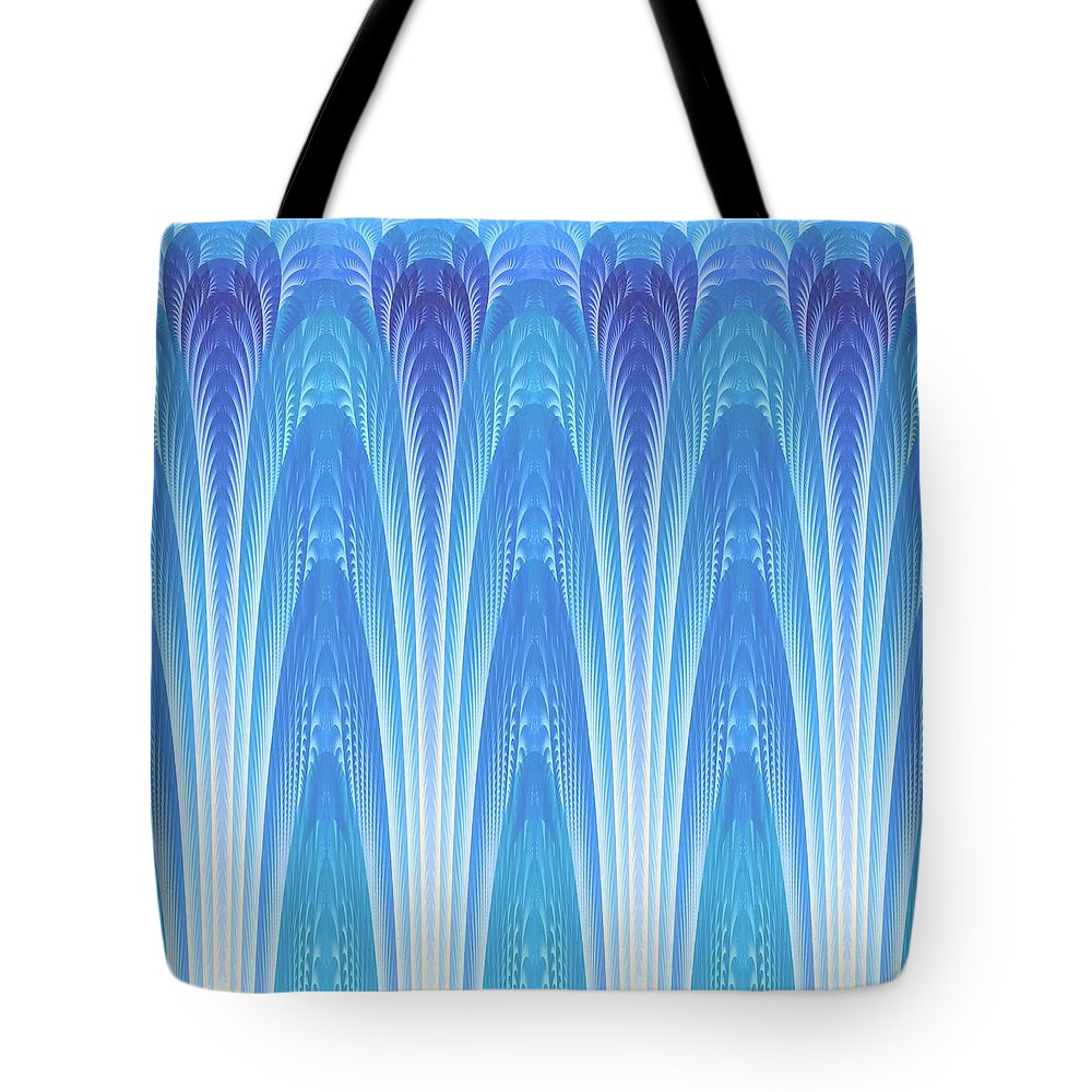 Fractal Tote Bag featuring the digital art Along The Blue Nile by Lyle Hatch