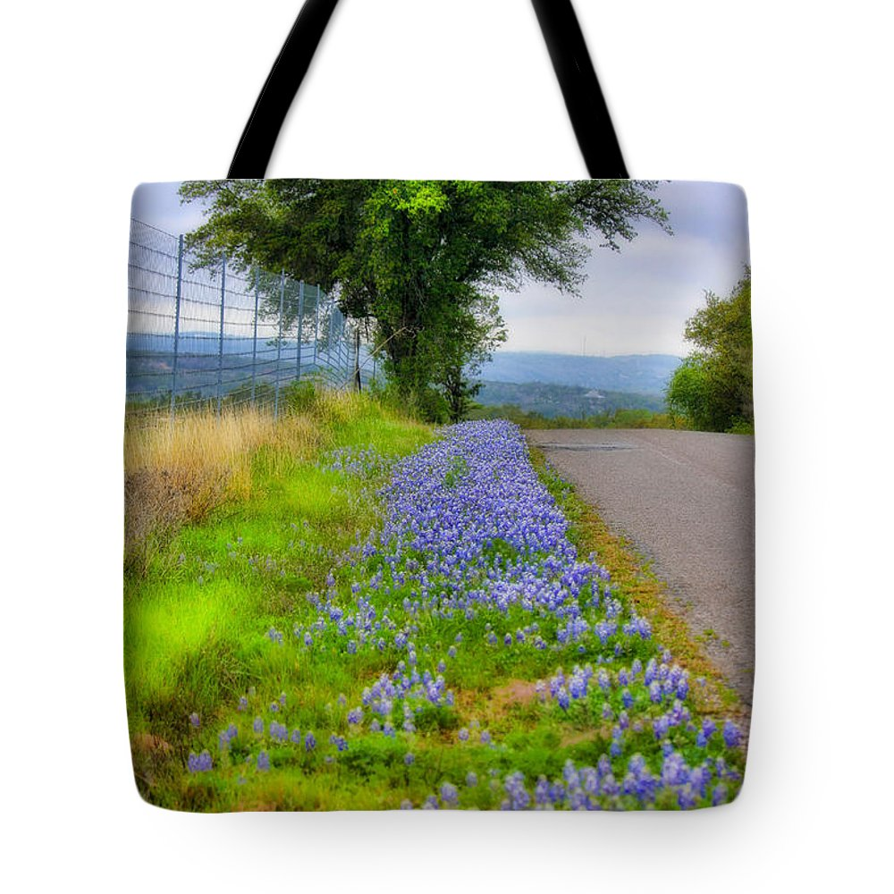Landscape Tote Bag featuring the photograph Along The By Ways by Joan Bertucci