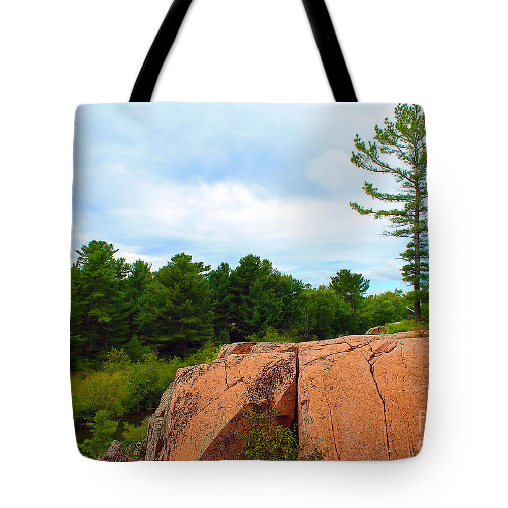 Canada Tote Bag featuring the photograph Along The Chikanashing Trail by Nina Silver