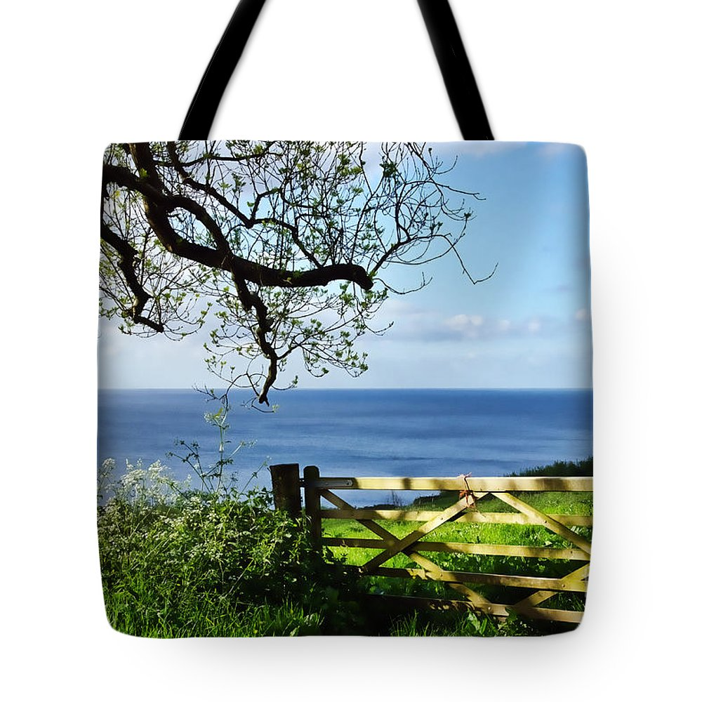 Gate Tote Bag featuring the photograph Along The Coastal Path - Lyme Regis by Susie Peek