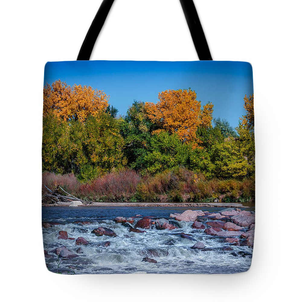 Creek Tote Bag featuring the photograph Along The Creek by Ernie Echols