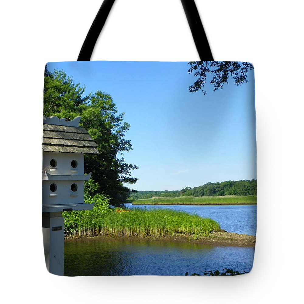 Birds Tote Bag featuring the photograph Along The Taunton River by Georgia Hamlin