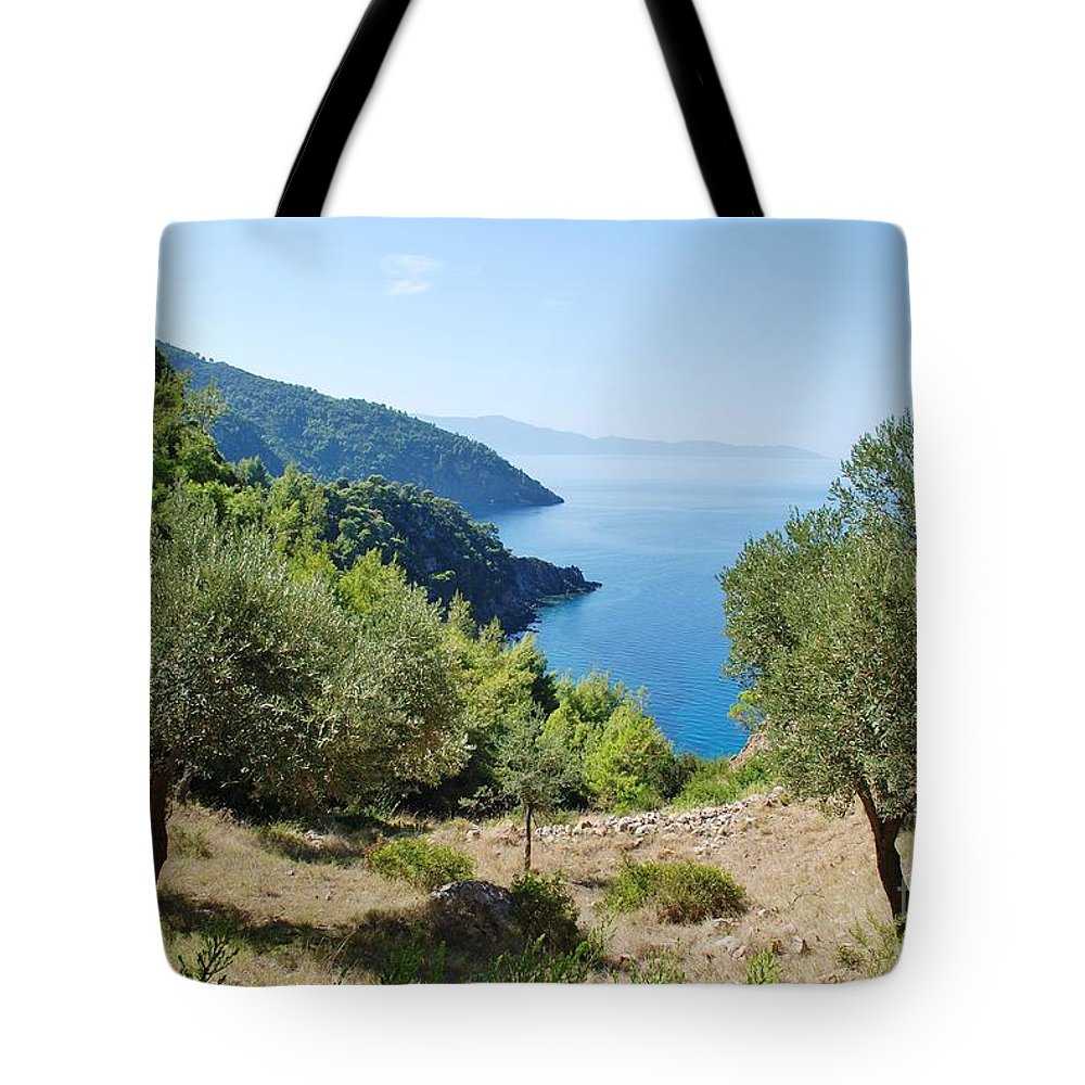 Alonissos Tote Bag featuring the photograph Alonissos Island by David Fowler
