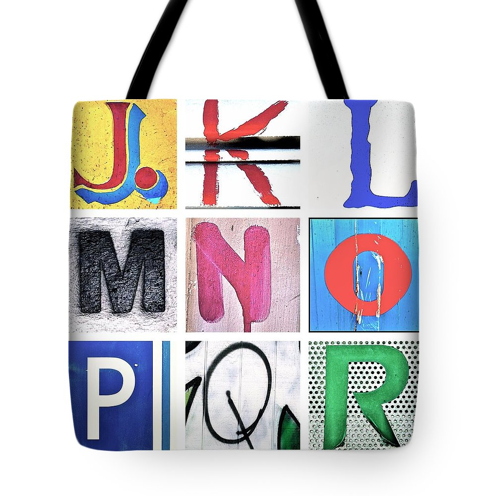 Tote Bag featuring the photograph Alphabet Series 2 by Julie Gebhardt