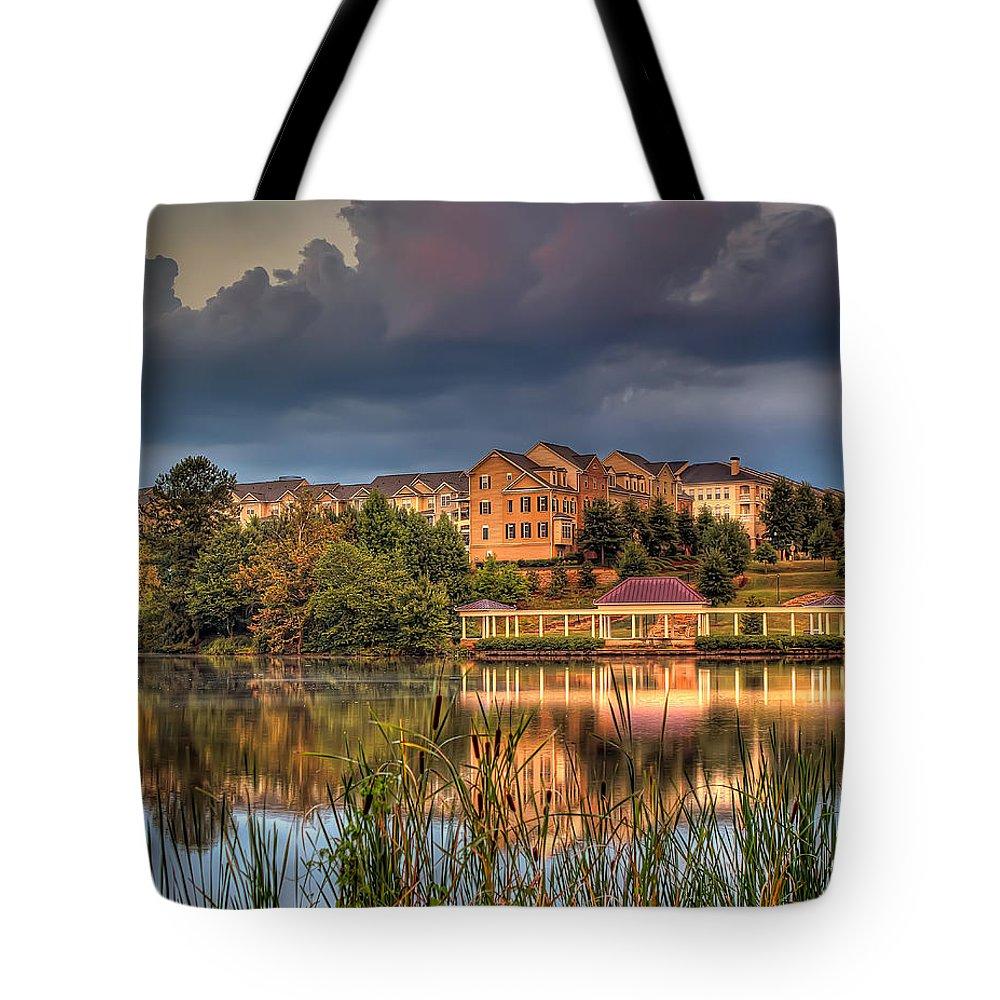 Atlanta Tote Bag featuring the photograph Alpharetta by Anna Rumiantseva