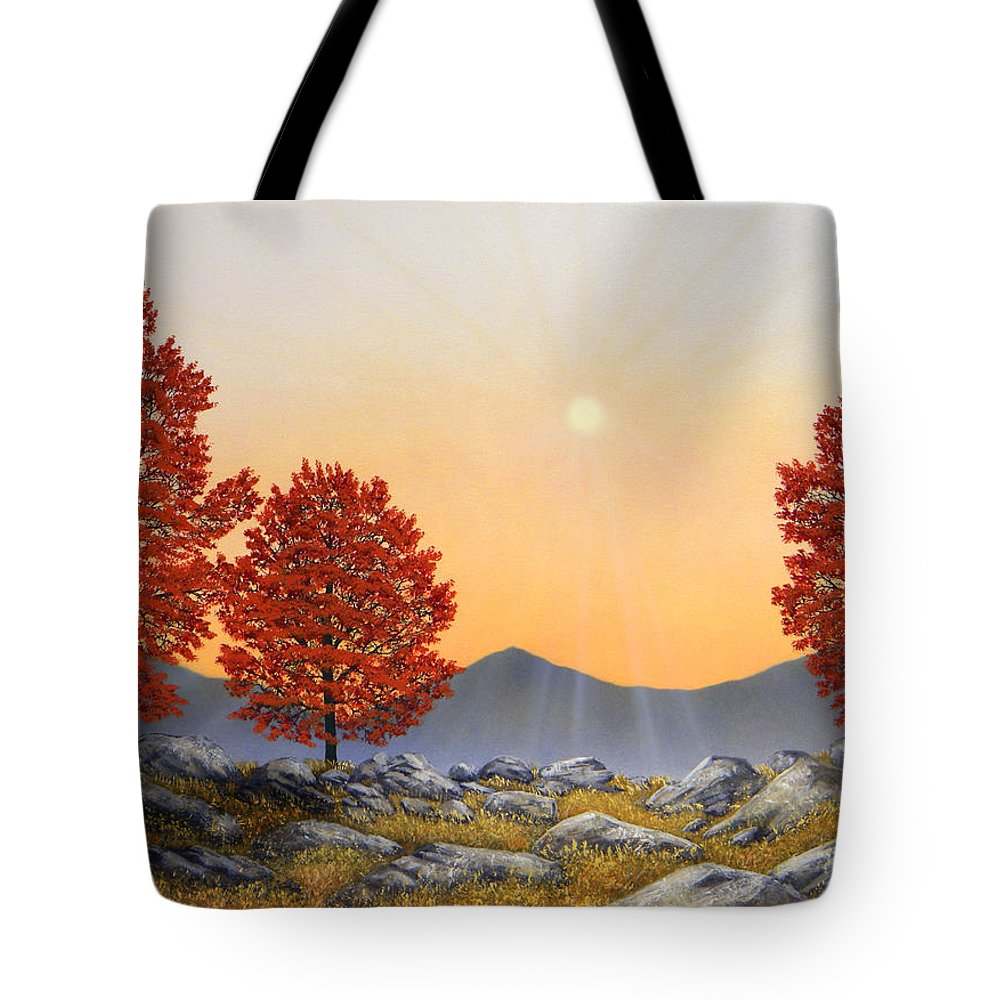 Mountains Tote Bag featuring the painting Alpine Meadow II by Frank Wilson