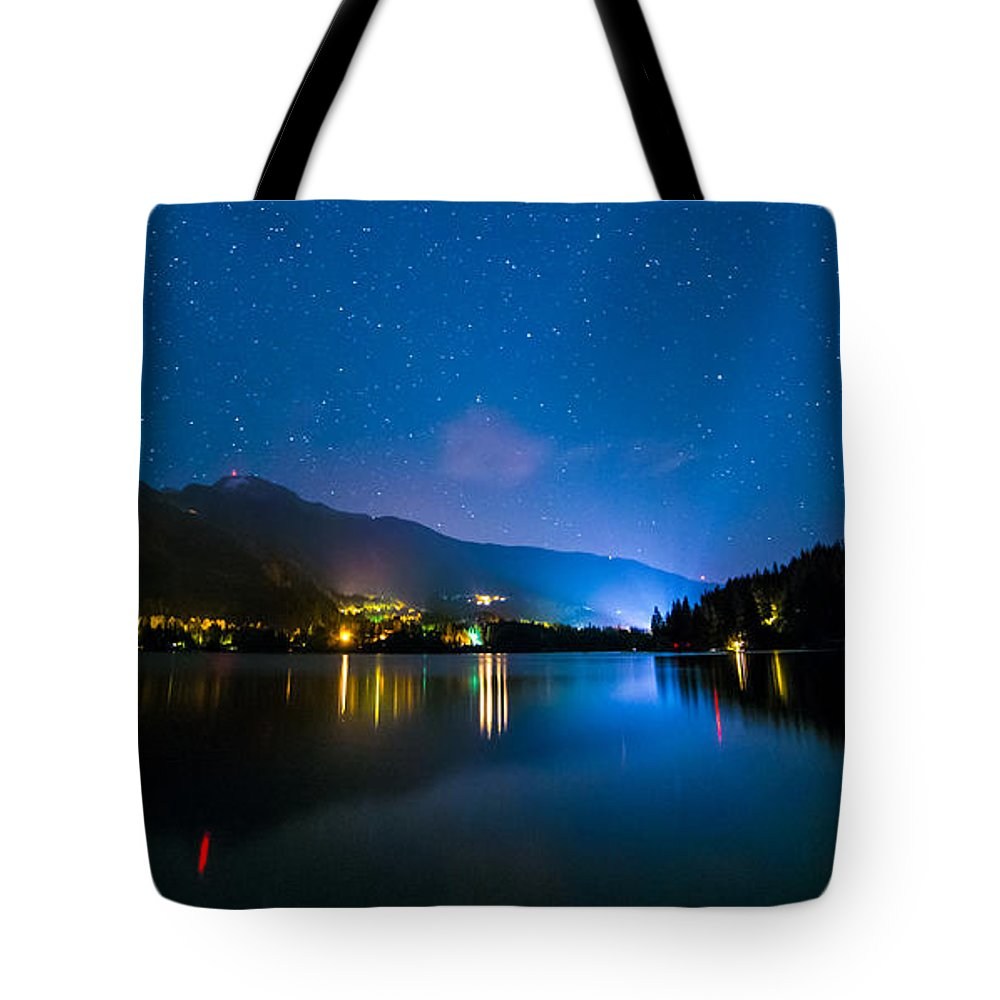 Alta Lake Tote Bag featuring the photograph Alta Lake Lights by James Wheeler