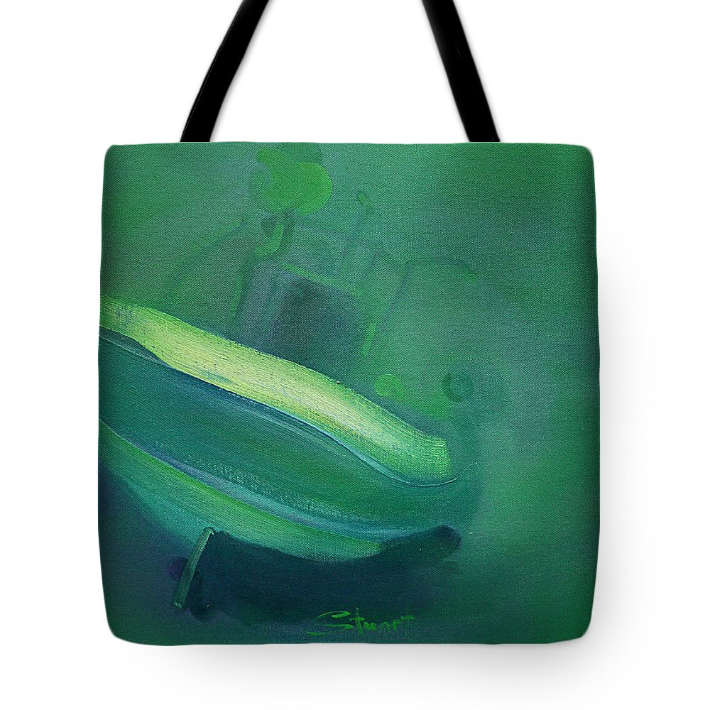 Fishing Boat Tote Bag featuring the painting Alvor Working Boat by Charles Stuart