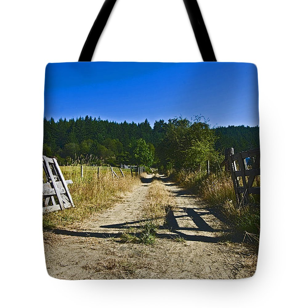 Wooden Gate Tote Bag featuring the photograph Always Open by Rob Mclean