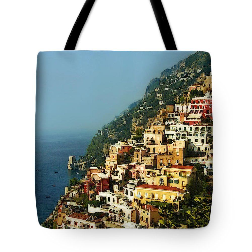 Amalfi Tote Bag featuring the photograph Amalfi Coast Hillside II by Steven Sparks