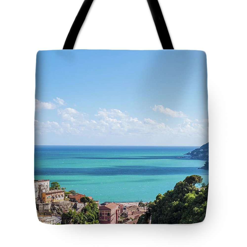 Scenics Tote Bag featuring the photograph Amalfi Coast Landscape Vietri Village by Angelafoto