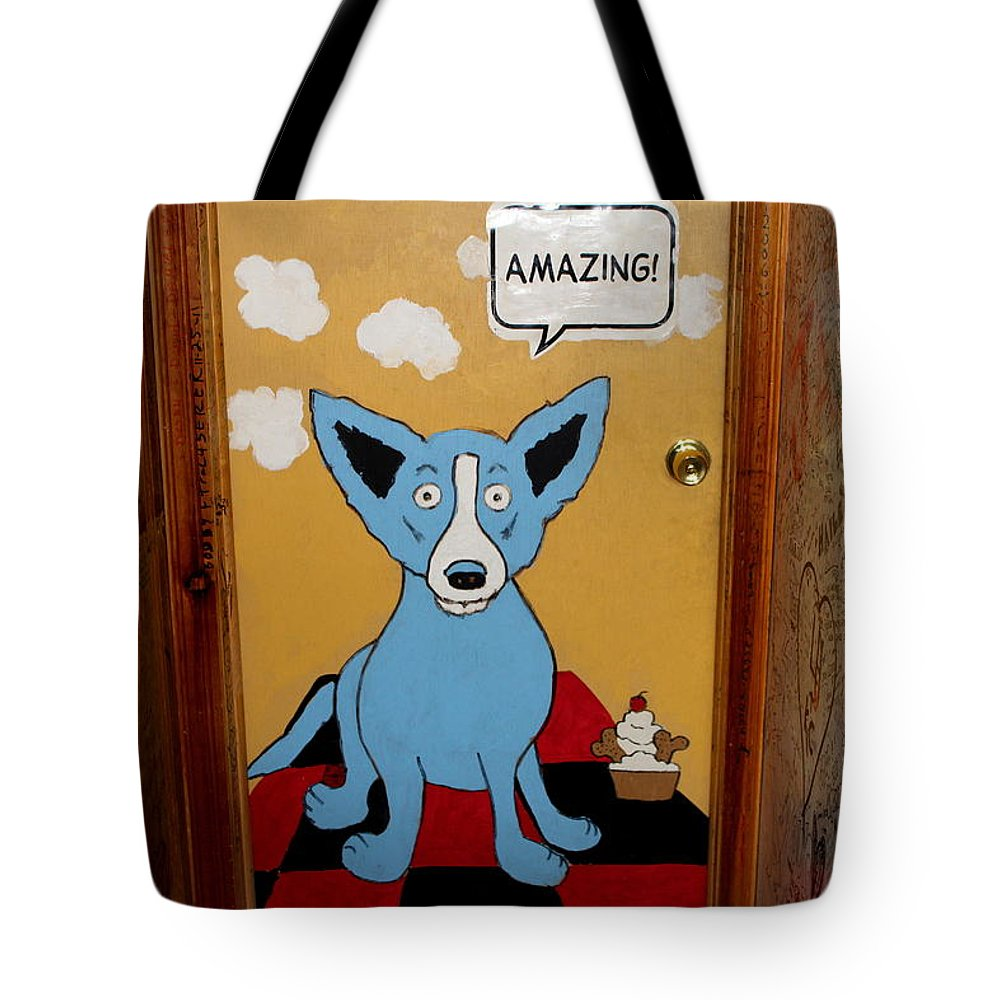 Dog Tote Bag featuring the photograph Amazing by Fiona Kennard
