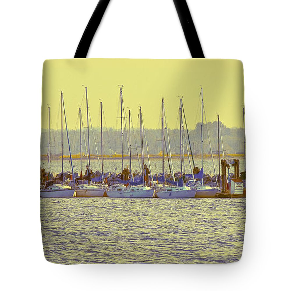 Sail Tote Bag featuring the photograph Amber At White Rock by David Fabian
