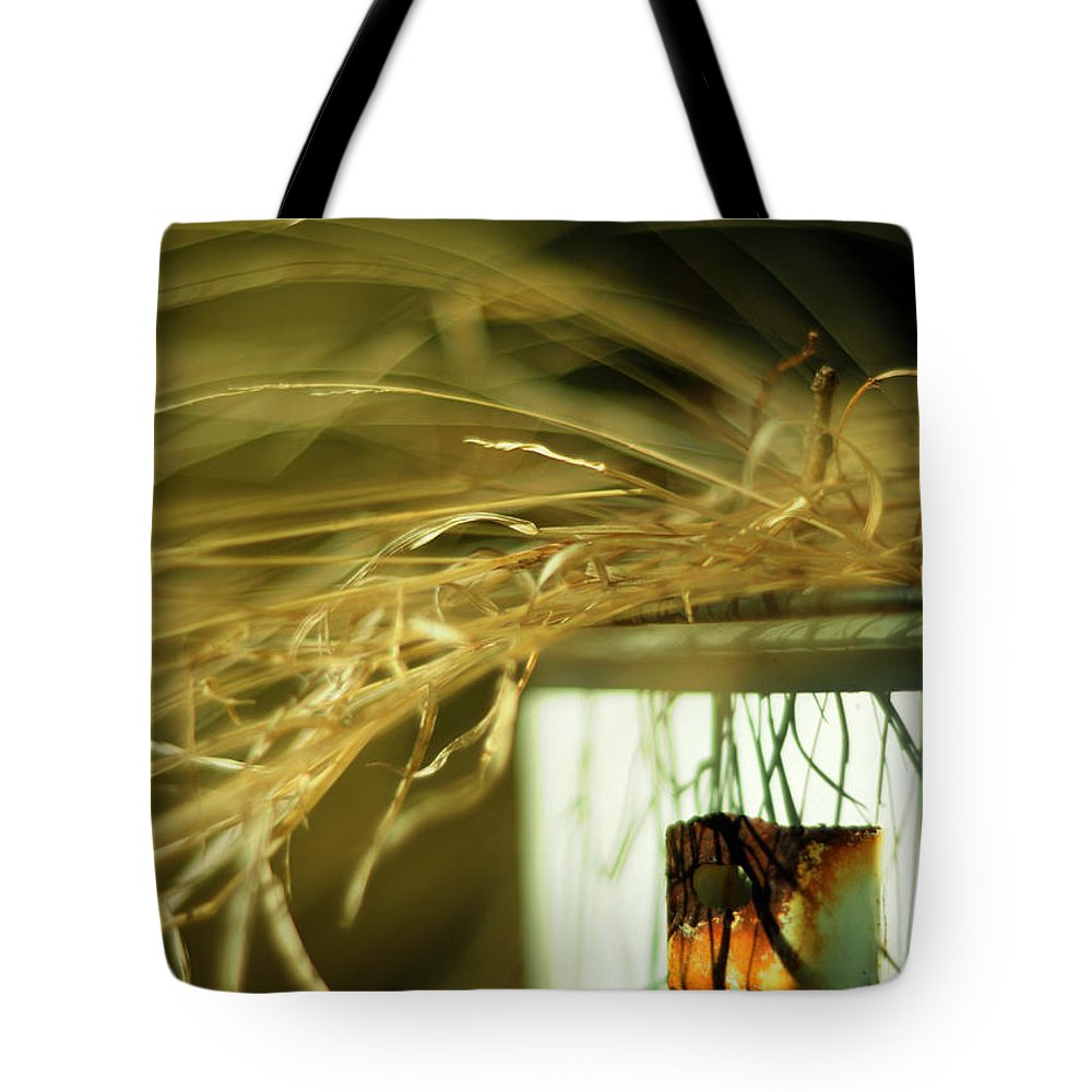 Grass Tote Bag featuring the photograph Amber Waves by Rebecca Sherman