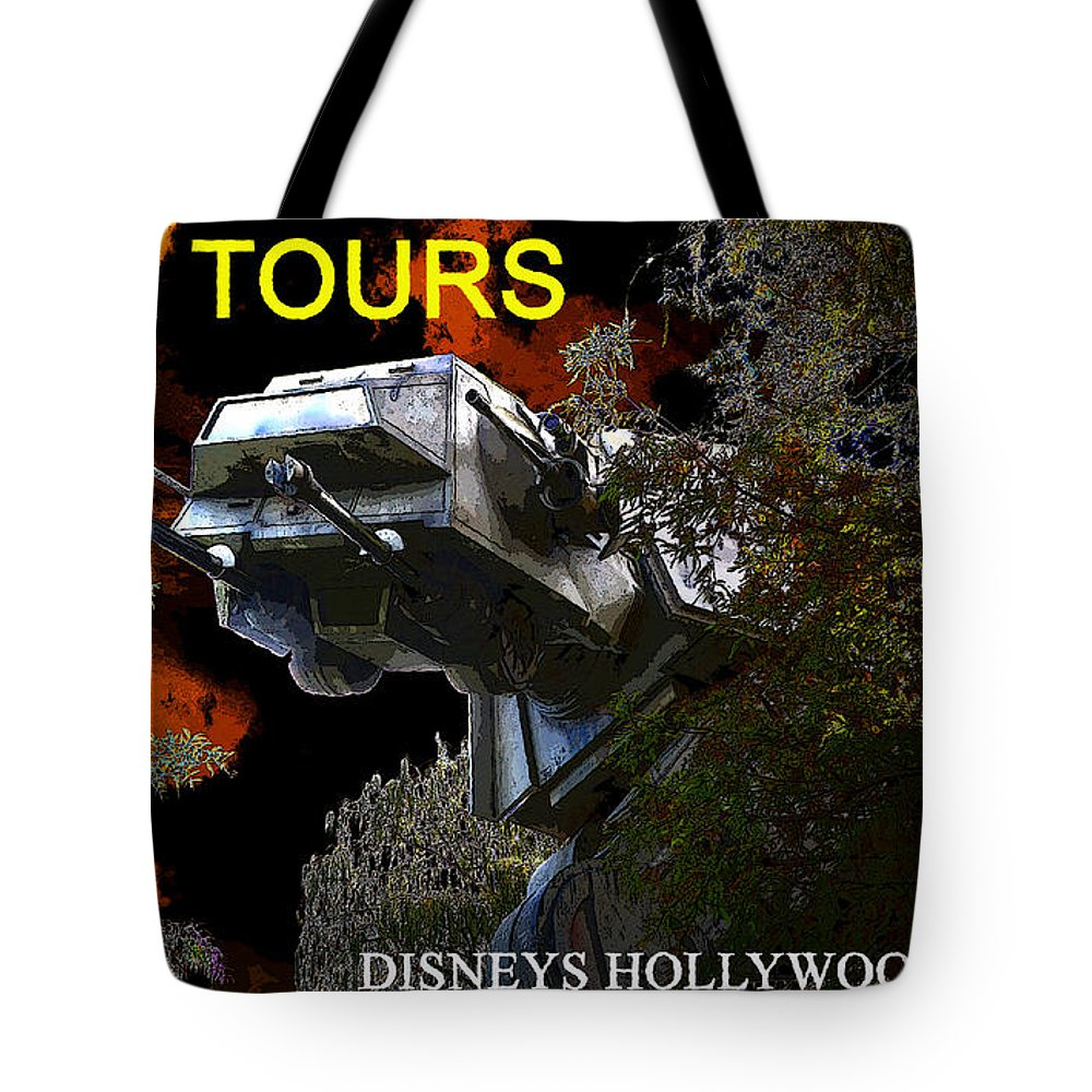 Art Tote Bag featuring the painting Ambushed On Endor Poster Work With Text. by David Lee Thompson