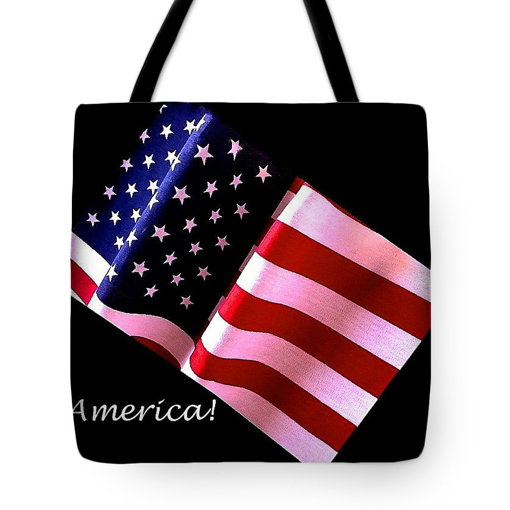 America Tote Bag featuring the photograph America Greeting Card by Bill Owen