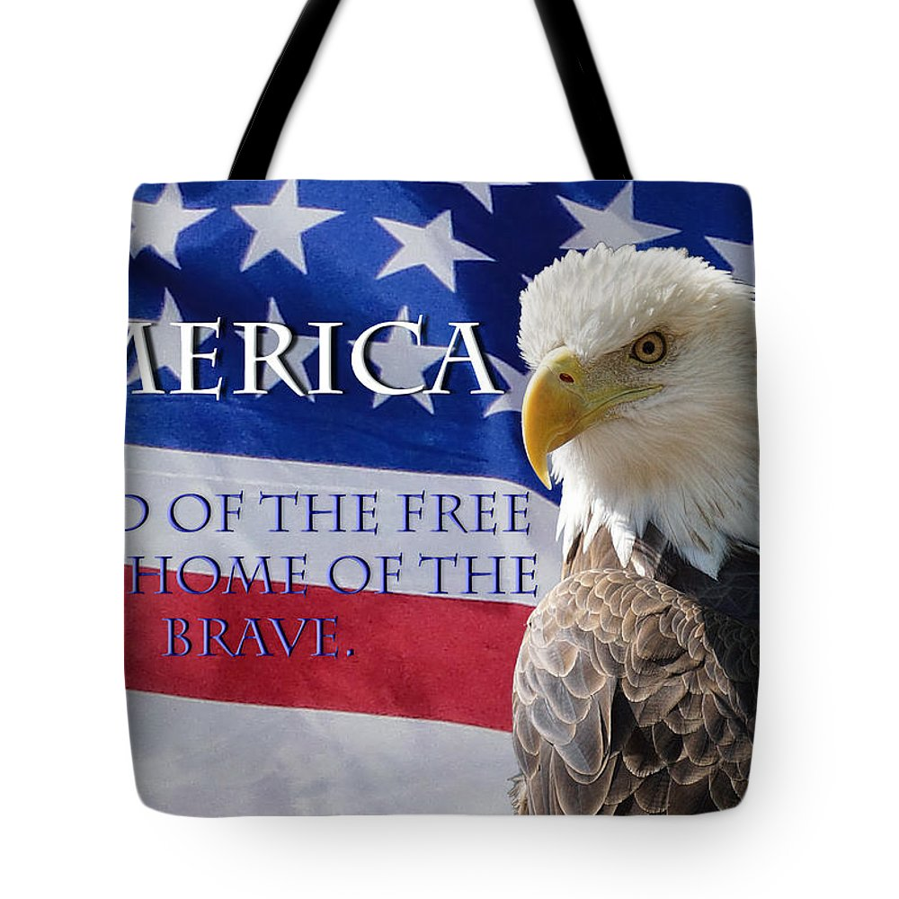 American Tote Bag featuring the photograph America Land Of The Free by Alan Hutchins
