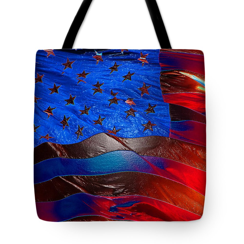 American Flag Tote Bag featuring the painting America Rising by David Lee Thompson