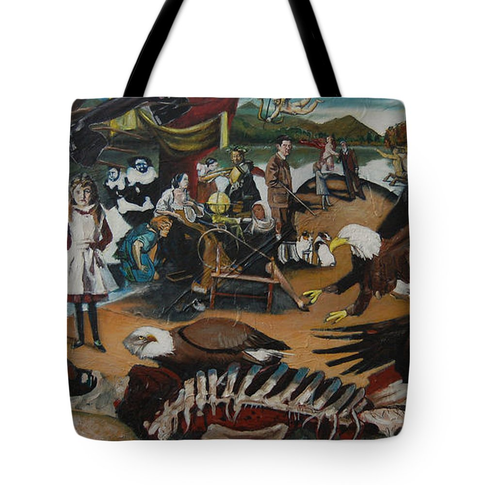 Unfinished Tote Bag featuring the painting America The Beautiful by Jude Darrien