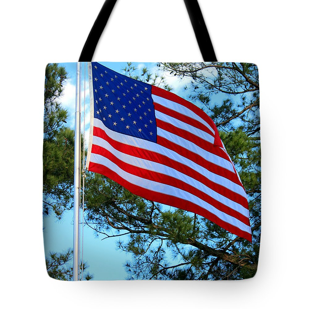 Patiotic Songs Tote Bag featuring the photograph America The Beautiful by Kathy White