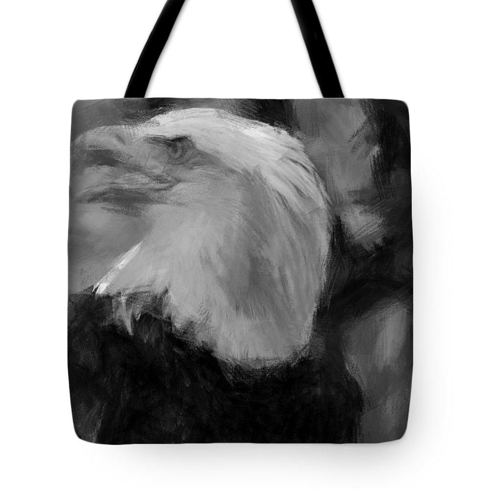 American Bald Eagle Tote Bag featuring the photograph American Bald Eagle V4 by Douglas Barnard