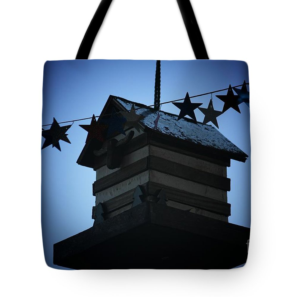 Stars And Stripes Tote Bag featuring the photograph American Bird House by Brandi Maher